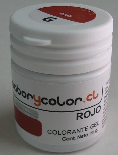 Colorante Gel Rojo 20g